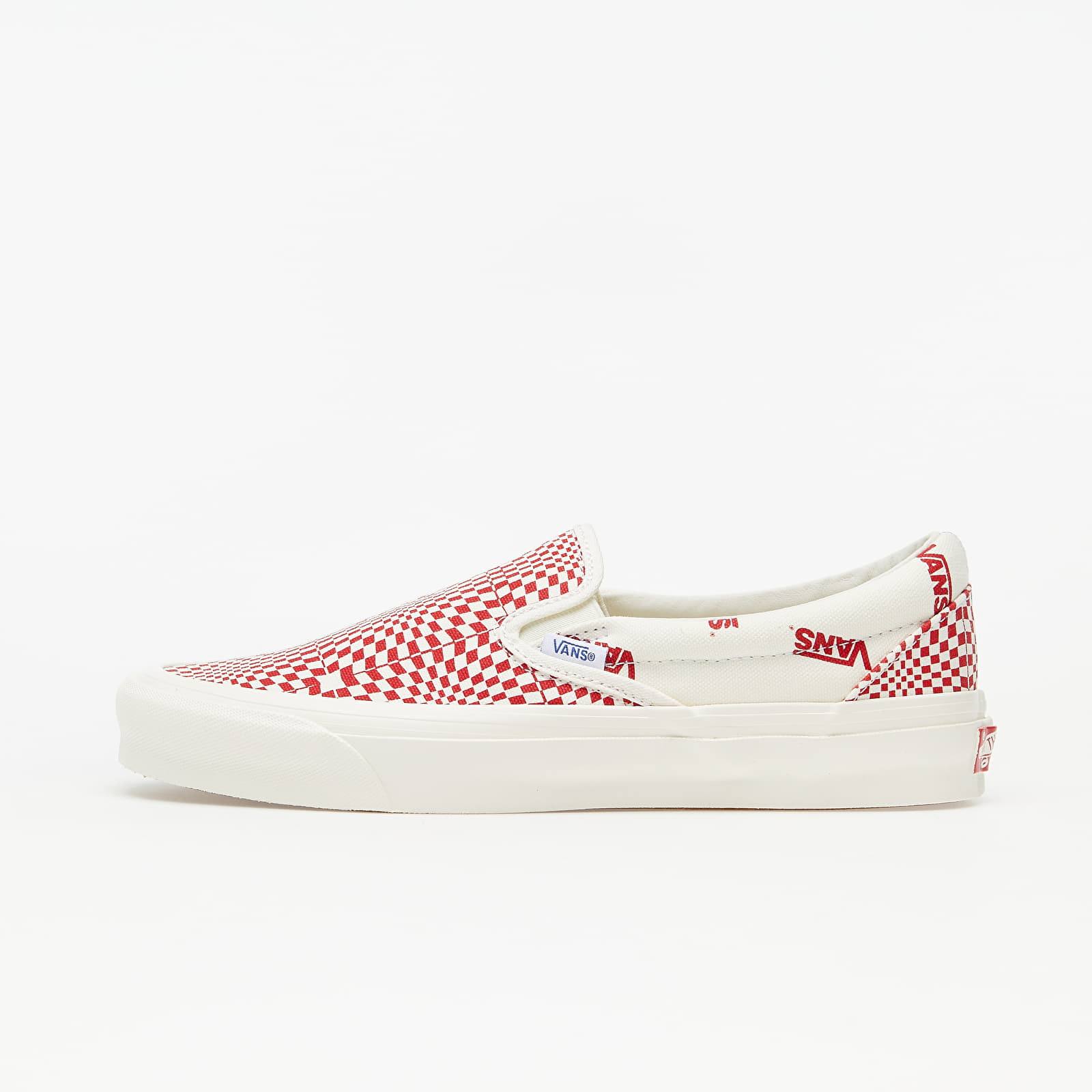 Vans OG Classic Slip-On (Canvas) Optical Checkerboard Red/ Marshmallow EUR 42.5