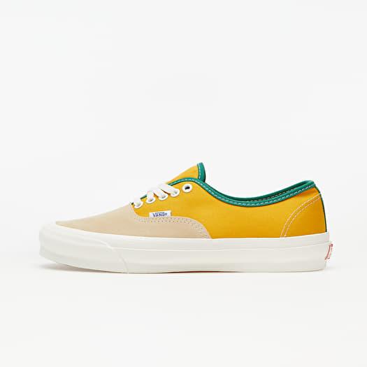 Vans Vault OG Authentic LX (Suede/ Canvas) Yellow/ Green | Footshop