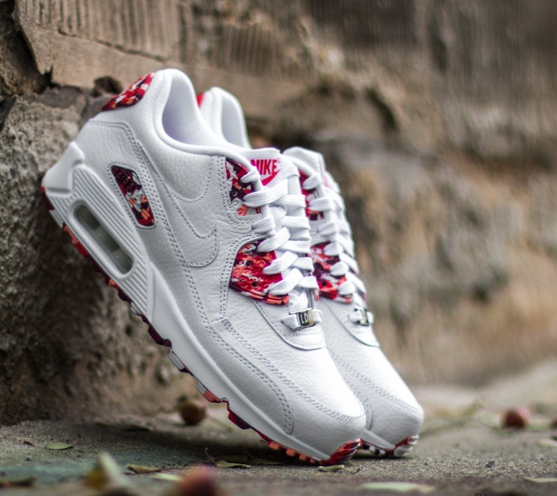 cc1b03f3d5ea Nike Wmns Air Max 90 QS White  White-Chilling Red -Atomic Pink ...