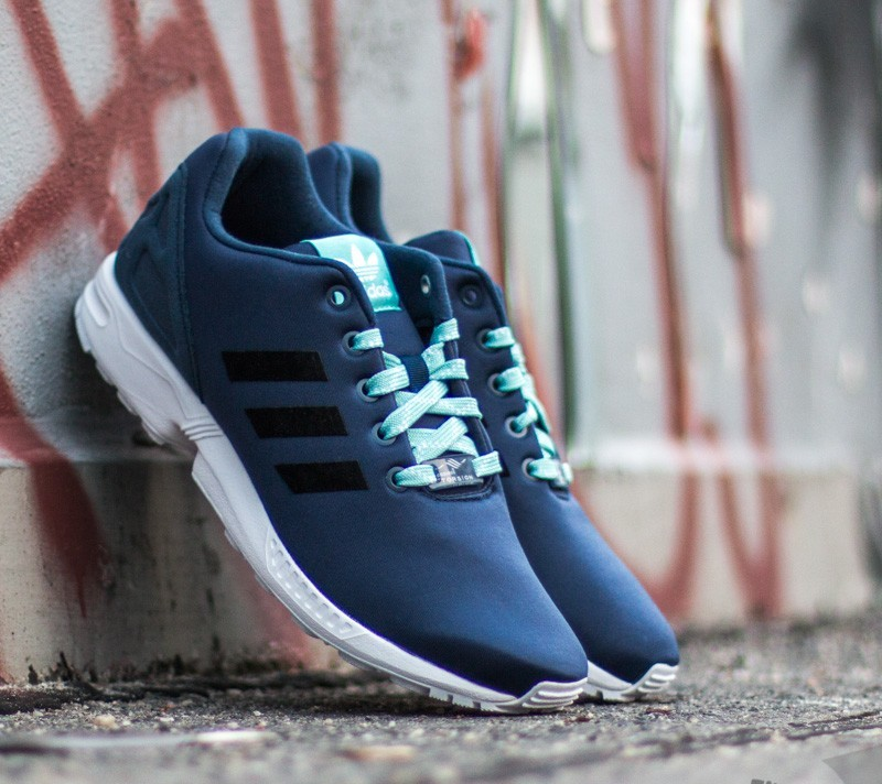 3b9ce6079244 adidas ZX Flux K Collegiate Navy  Core Black  Ftw White
