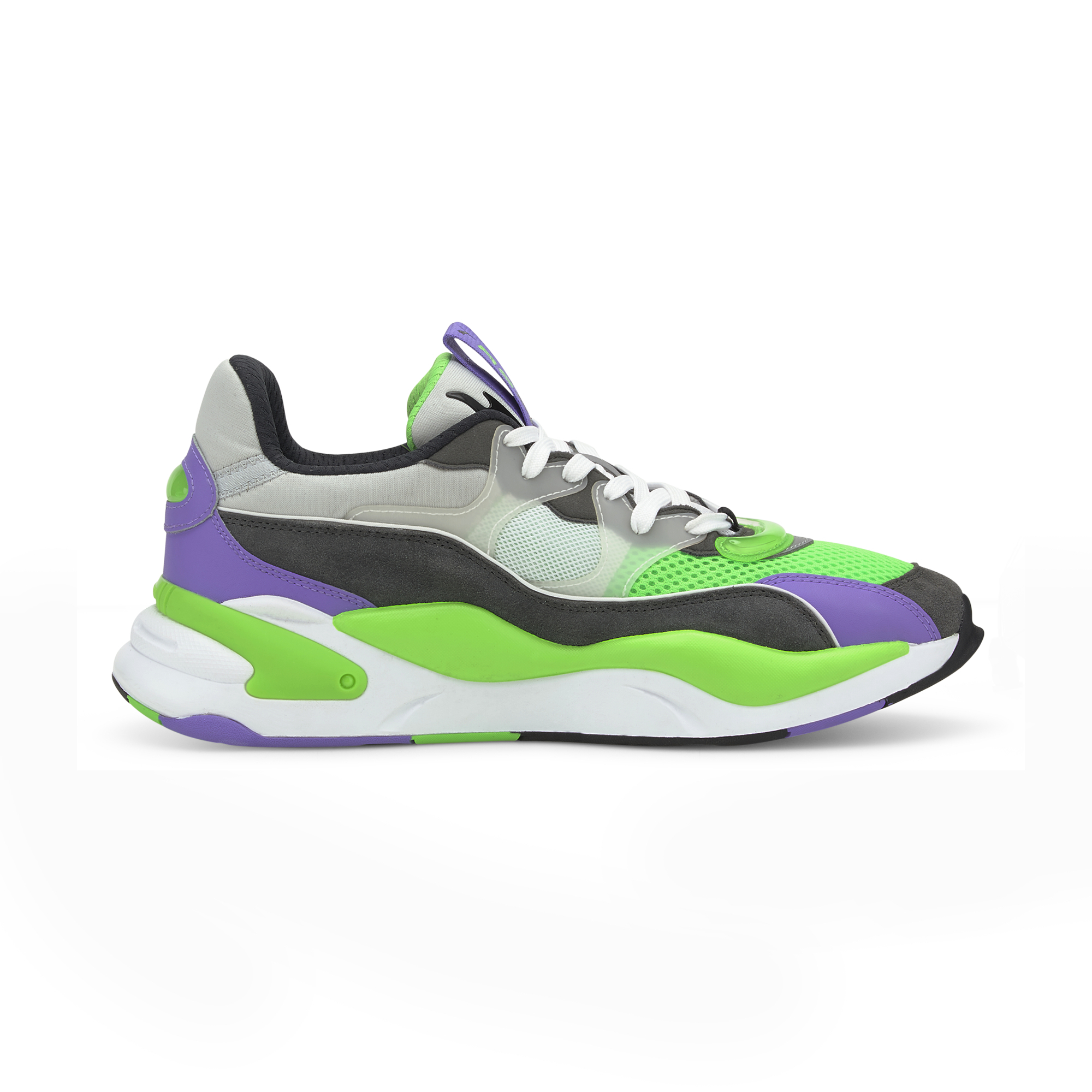 Puma RS-2K Internet Exploring Dark Shadow-Fluo Green, Gray