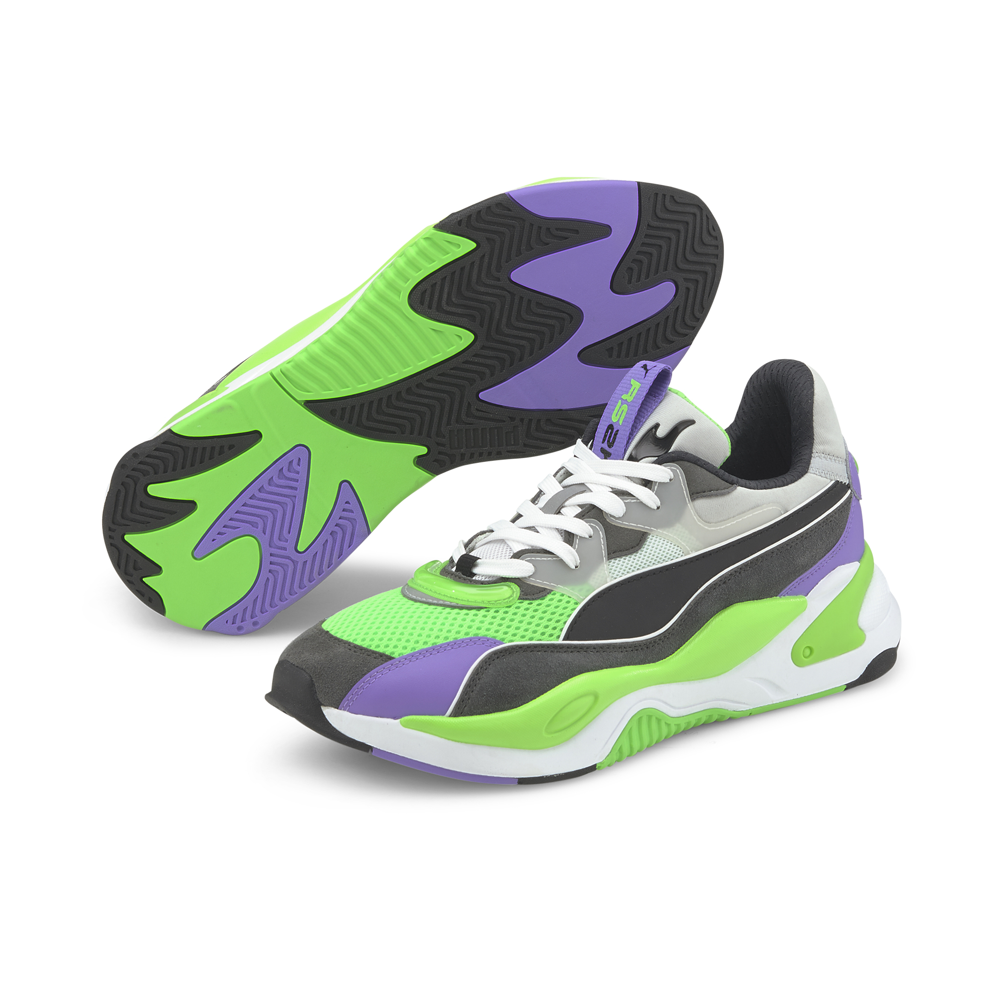 Puma RS-2K Internet Exploring Dark Shadow-Fluo Green