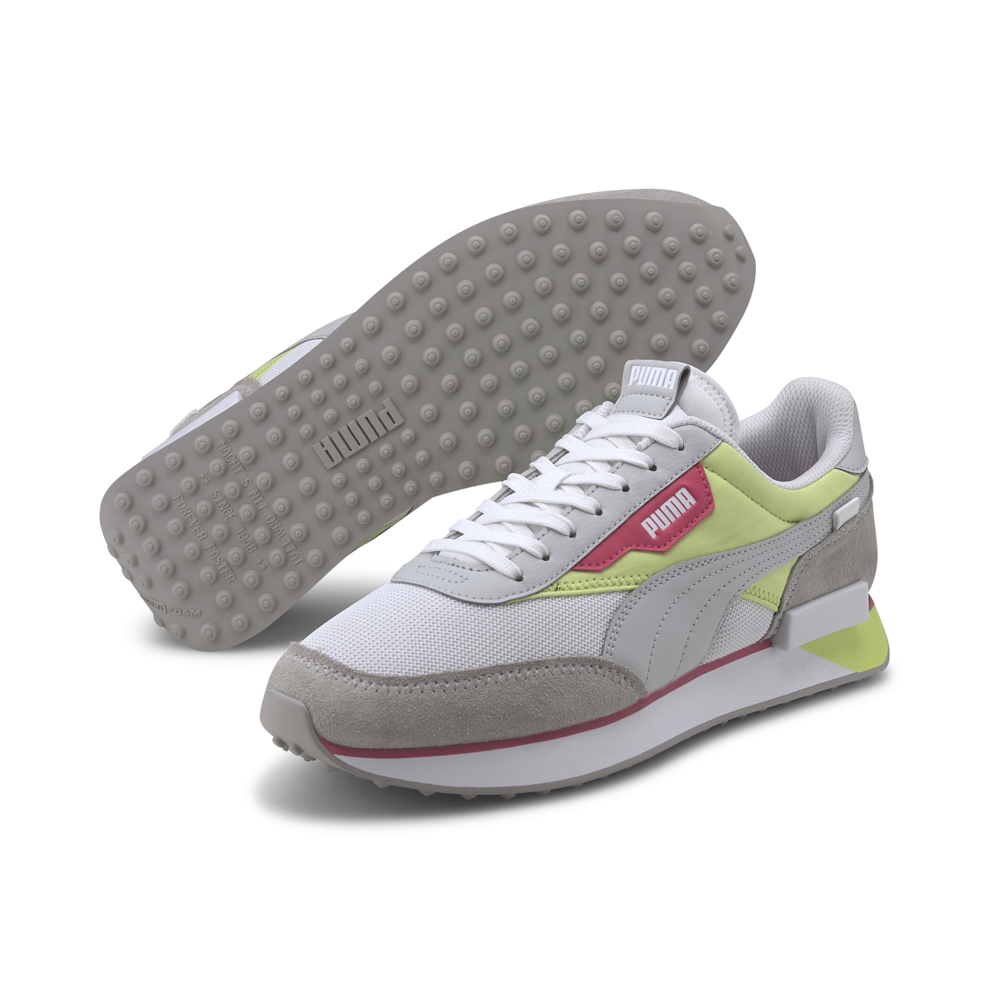 Puma Future Rider Neon Play Grey Violet-Sharp Puma Green