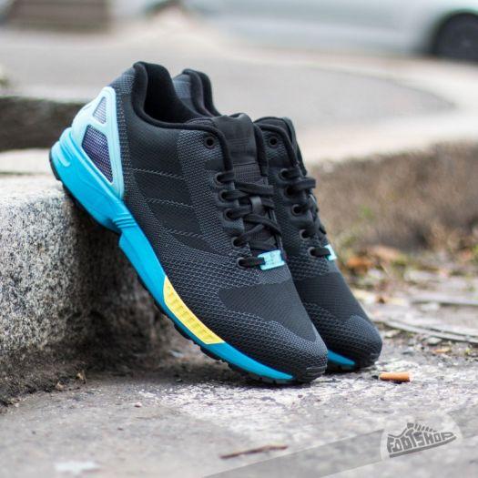 Carteles Desviar petróleo  Men's shoes adidas ZX Flux Weave Core Black/ Core Black/ Light Aqua |  Footshop
