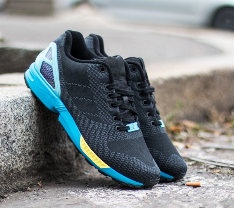 adidas ZX Flux Weave Core Black  Core Black  Light Aqua  275f7bf89a96
