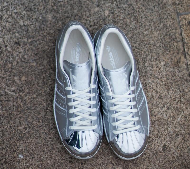 adidas Superstar 80s Metallic Pack Silver Metallic Off White | Footshop
