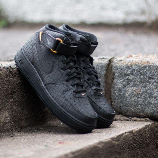 Nike Air Force 1 MID ´07 LV8 Black Black   Footshop