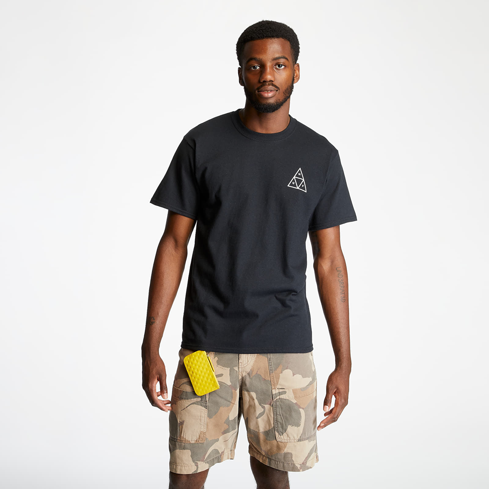 T-Shirts HUF Essentials Triple Triangle Tee Black