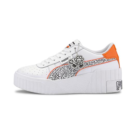 Women's shoes Puma Cali Wedge MR DOODLE Puma White-Black-Dragon Fire    Footshop