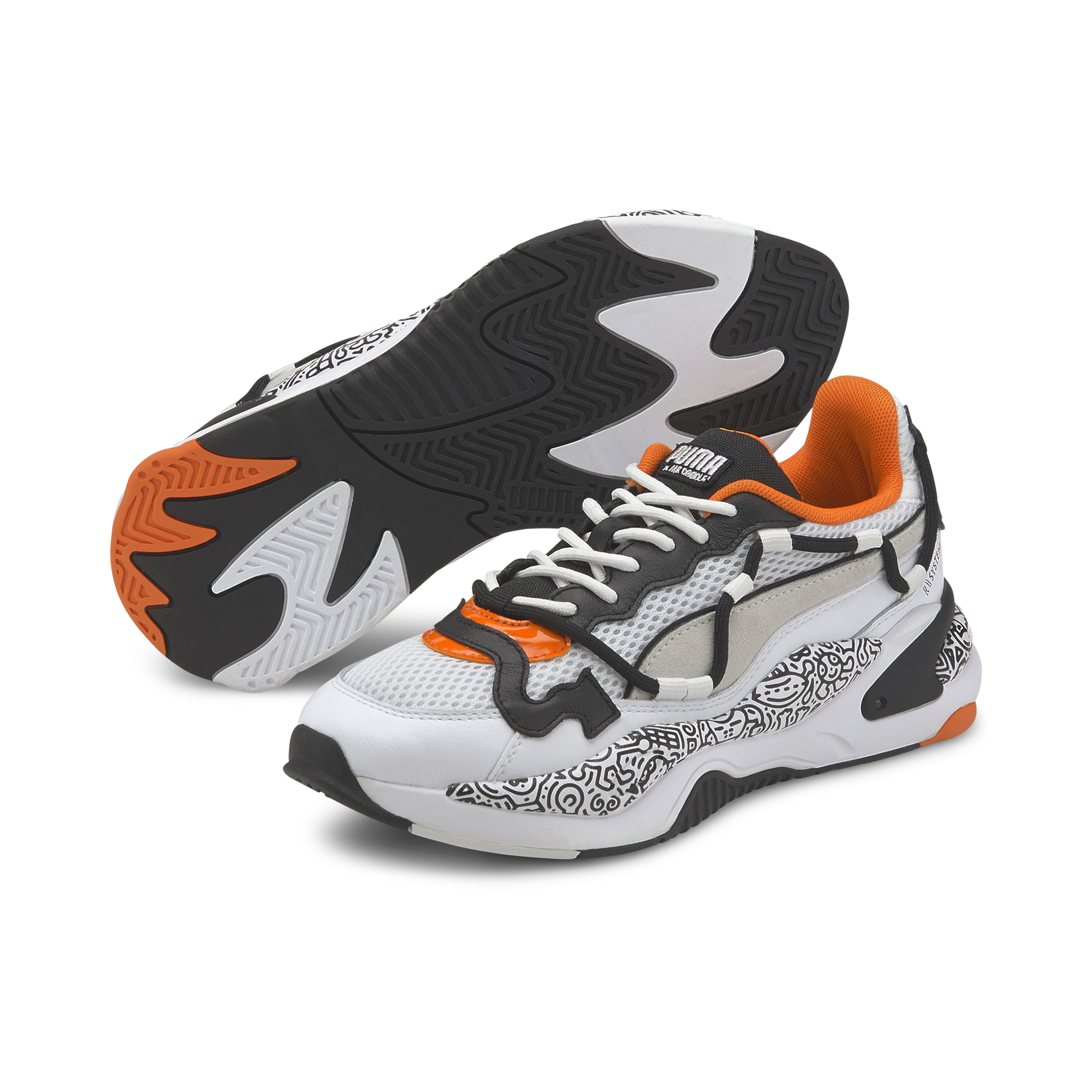 Puma RS-2K MR DOODLE Puma White-Black-Dragon Fire