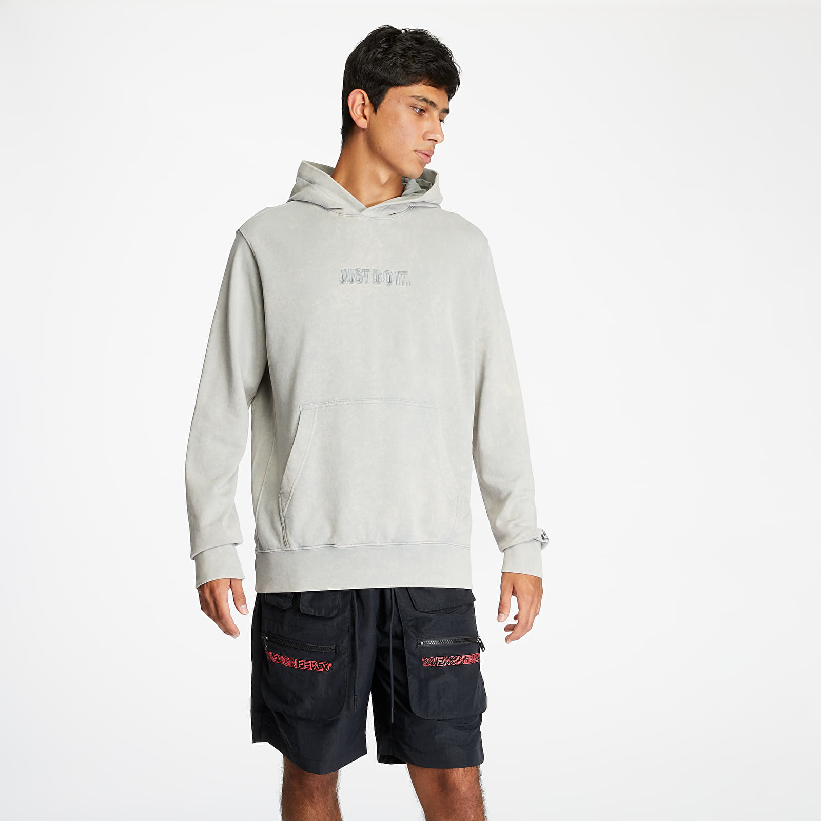 Sweatshirts Nike Sportswear Just Do It Wash Hoodie Lt Smoke Grey/ Lt Smoke Grey