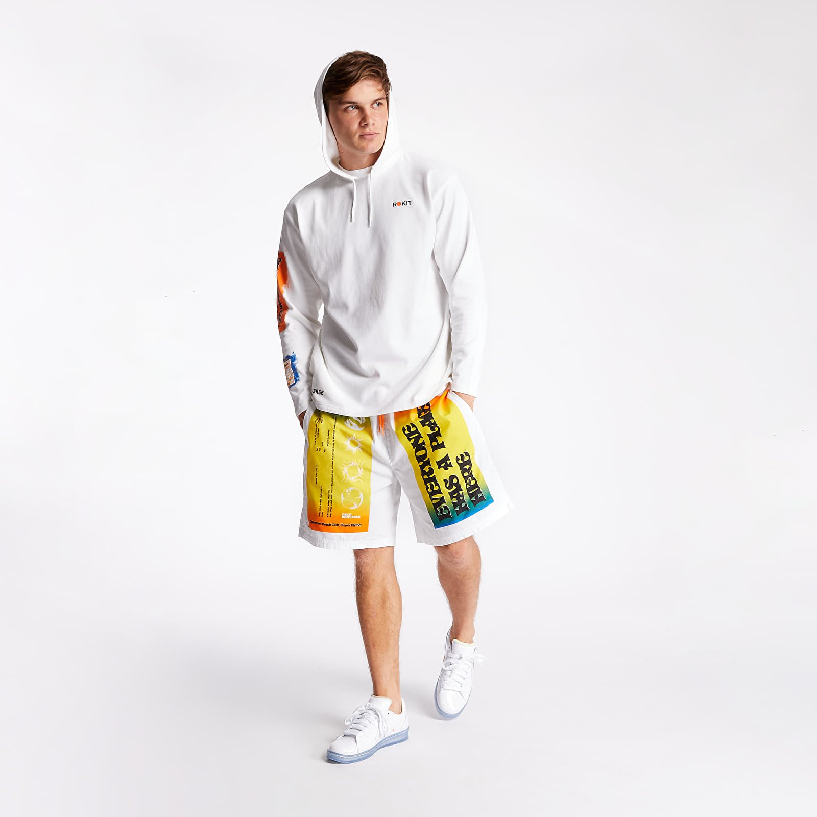 Shorts Converse x Rokit Shorts White