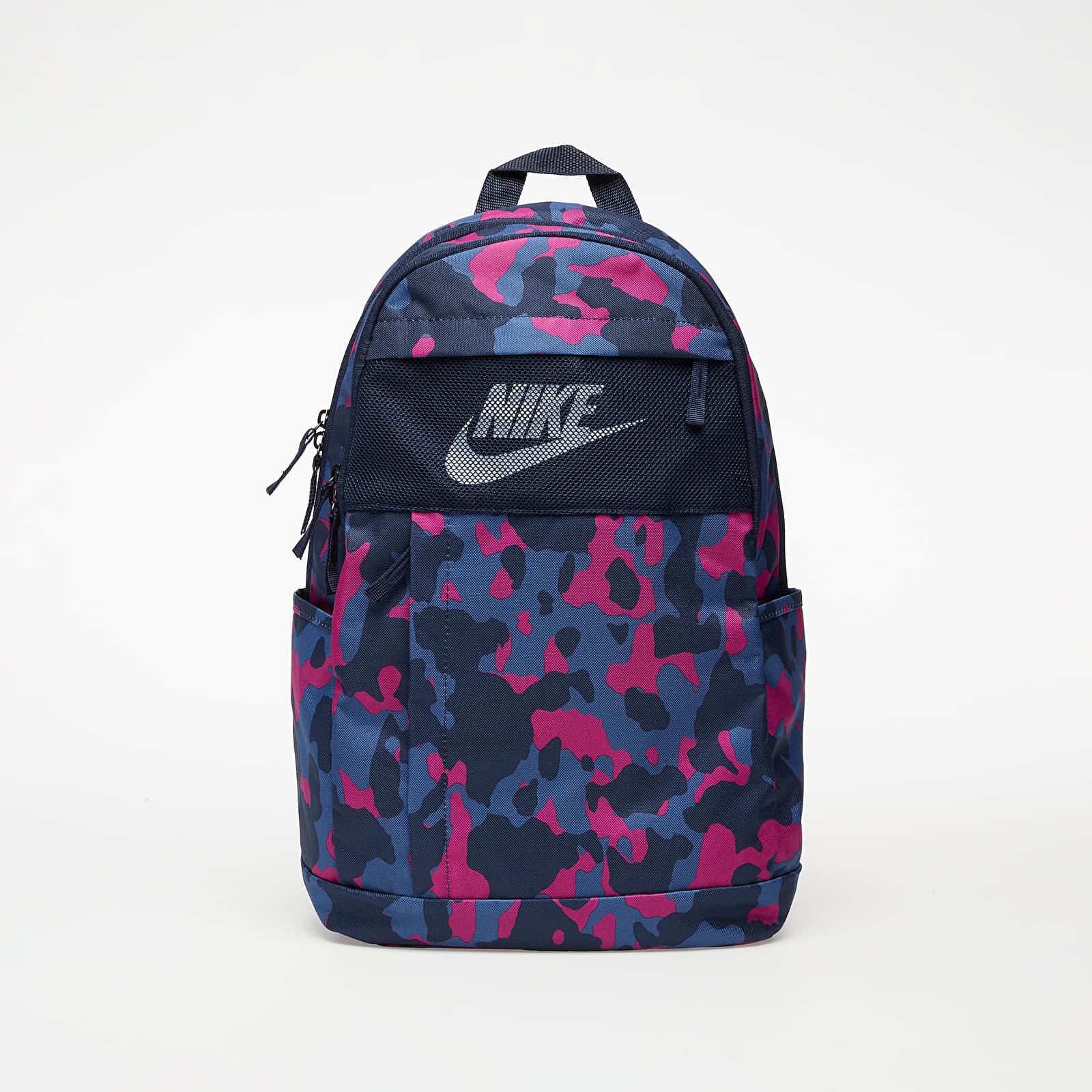 Rucksäcke Nike Elemental 2.0 Printed Backpack Obsidian/ Obsidian/ White