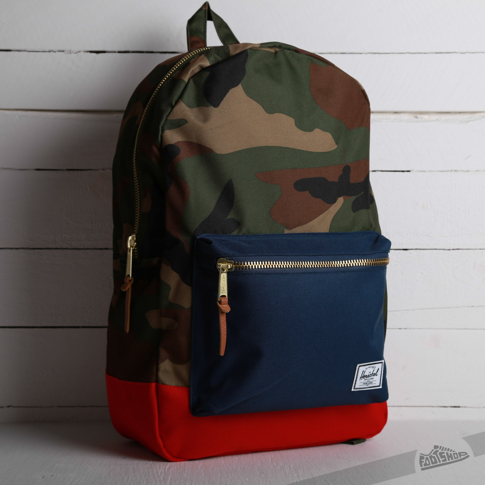 e2c02a2ed87 Herschel Supply Co. Settlement Backpack Woodland Camo Navy Red ...