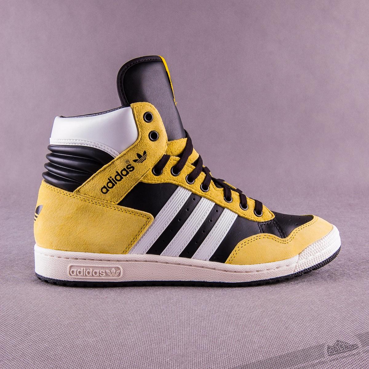 46893711e75 adidas Originals pánské luxusní kotníkové boty PRO CONFERENCE HI - Žluto  černo bílé G95984