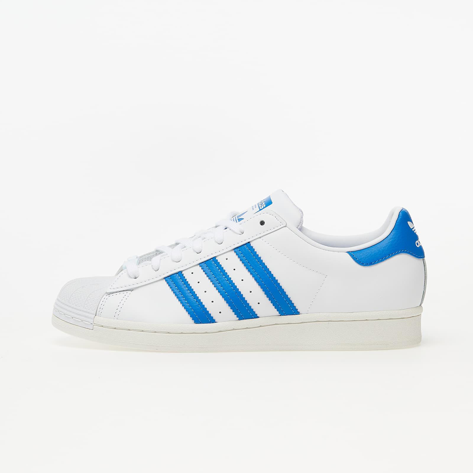 Chaussures et baskets homme adidas Superstar Ftw White/ Blue Bird/ Off White