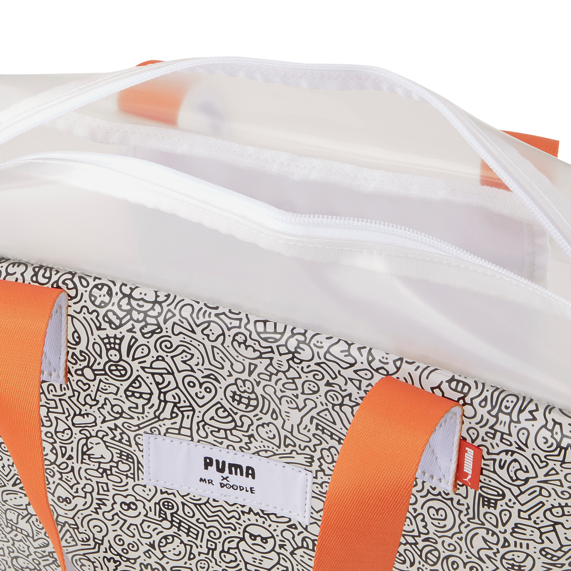 Puma x MR DOODLE Shopper Transparent/ Puma White/ Puma Black