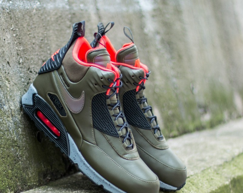 Nike Air Max 90 Sneakerboot Winter Dark Loden  Black-Bright Crimson 85b537b25