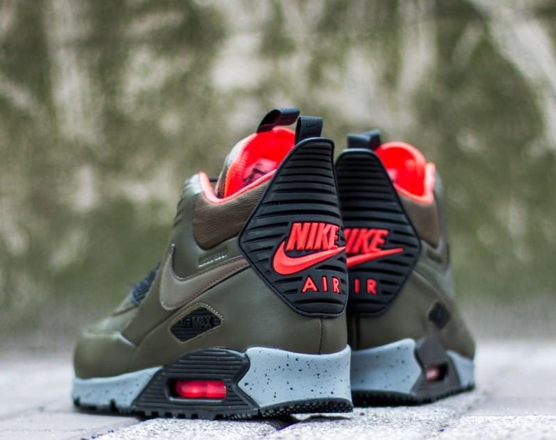 Nike Air Max 90 Sneakerboot Winter Dark Loden Black Bright Crimson | Footshop