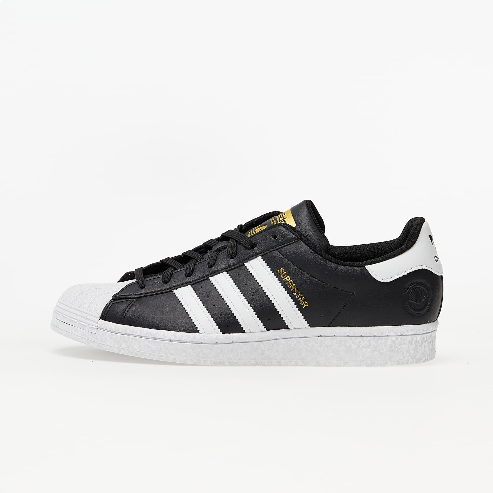Încălțăminte și sneakerși pentru bărbați adidas Superstar Vegan Core Black/ Ftw White/ Gold Metalic