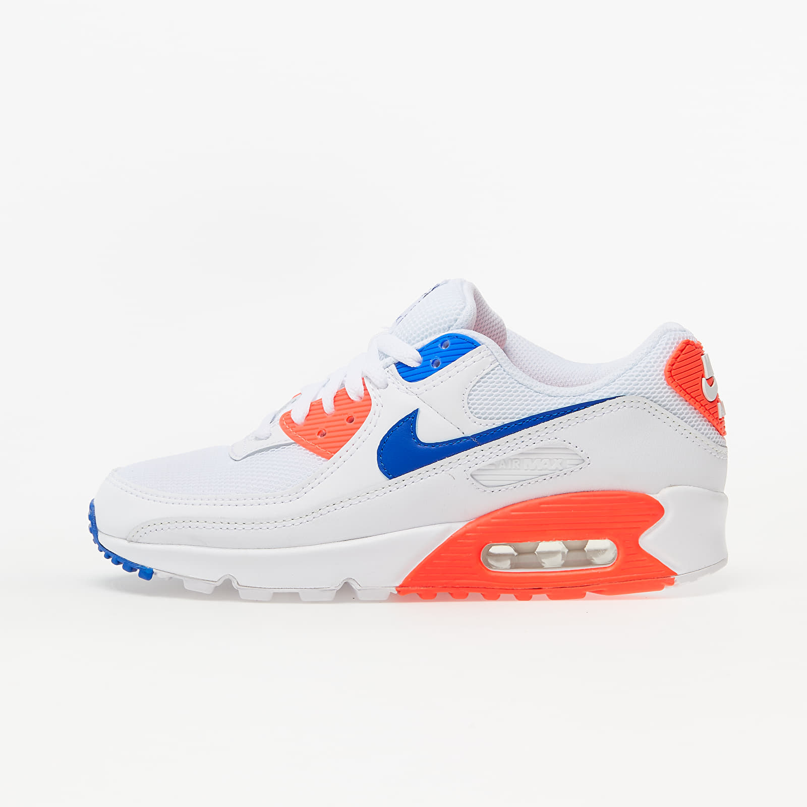 Nike W Air Max 90 White/ Racer Blue-Flash Crimson EUR 38.5