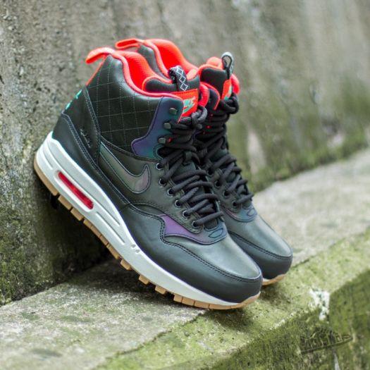 Nike WMNS Air Max 1 Mid Sneakerboot Black Crimson