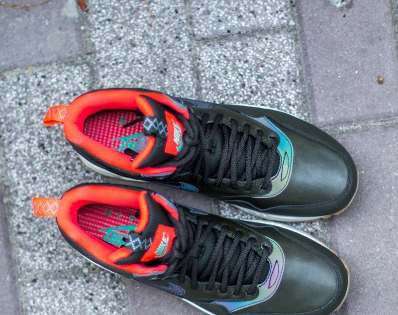 Nike W Air Max 1 Mid SneakerBoot Reflect Sequoia Black Bright Crimson Mint | Footshop