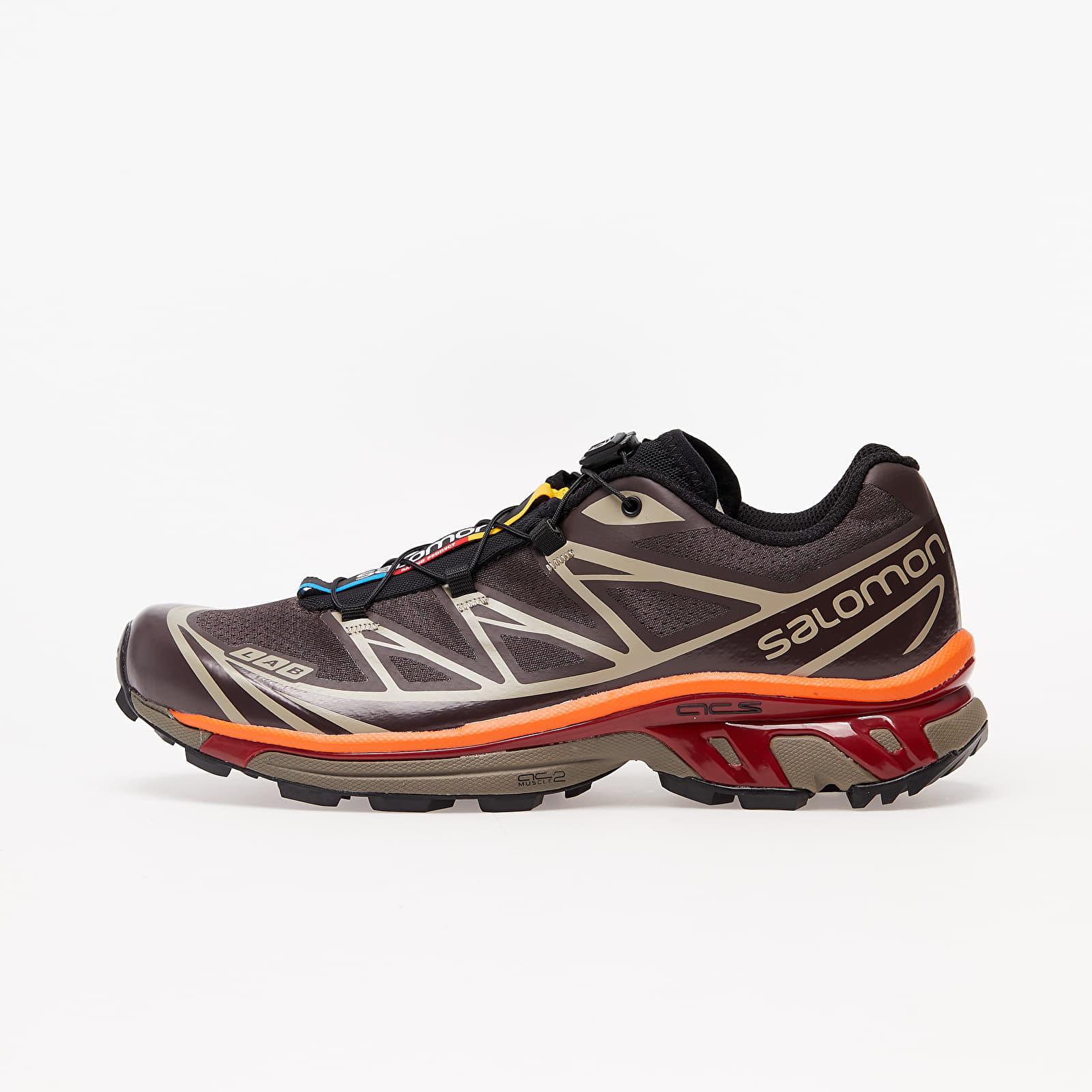 Încălțăminte și sneakerși pentru bărbați Salomon XT-6 Advanced Shade/ Chocolate Plum/ Red Orange