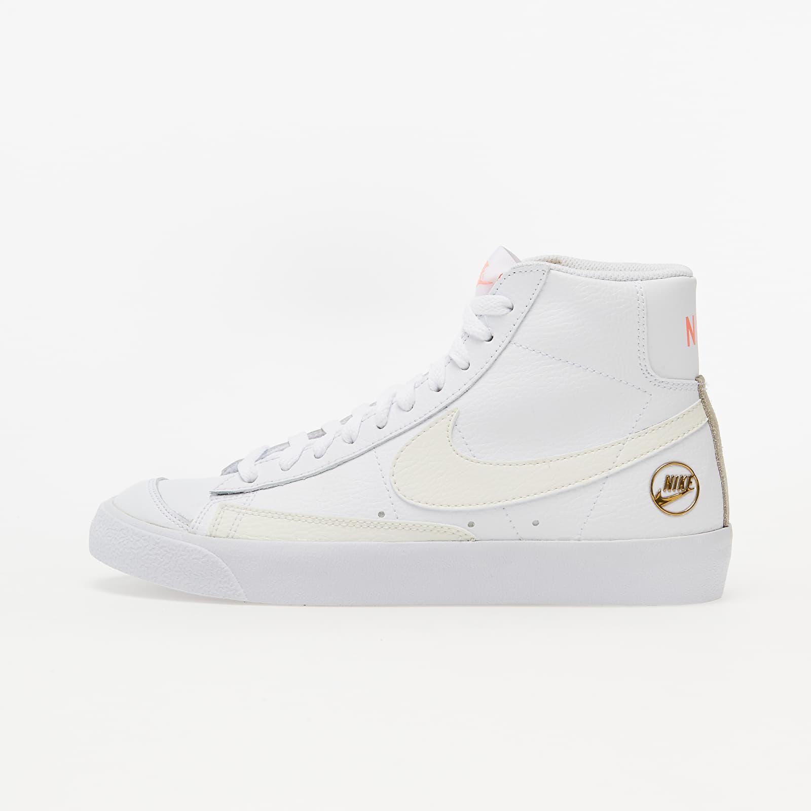 Chaussures et baskets femme Nike W Blazer Mid Vintage '77 White/ Sail-Metallic Gold-Atomic Pink