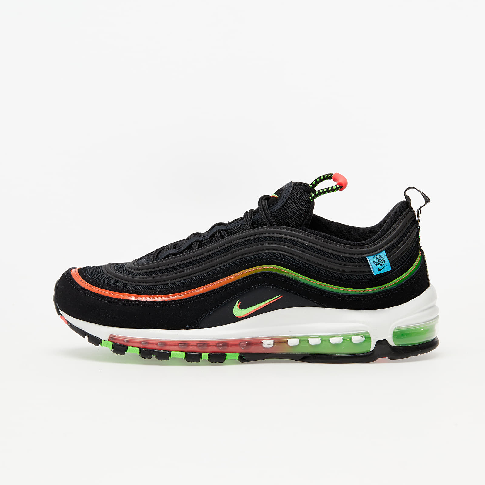 Men's shoes Nike Air Max 97 WW Black/ Green Strike-Flash Crimson-White