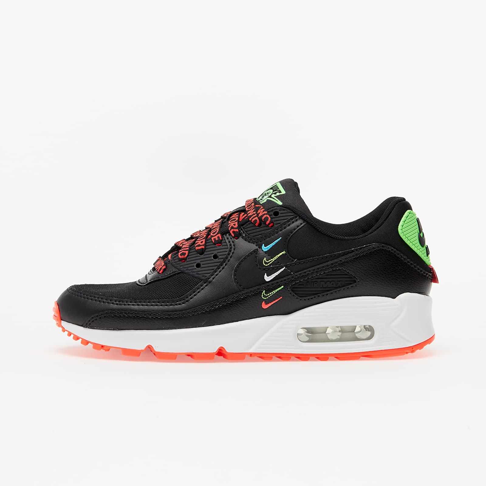 Nike Air Max 90 WW Black/ Black-Flash Crimson-Green Strike   Footshop