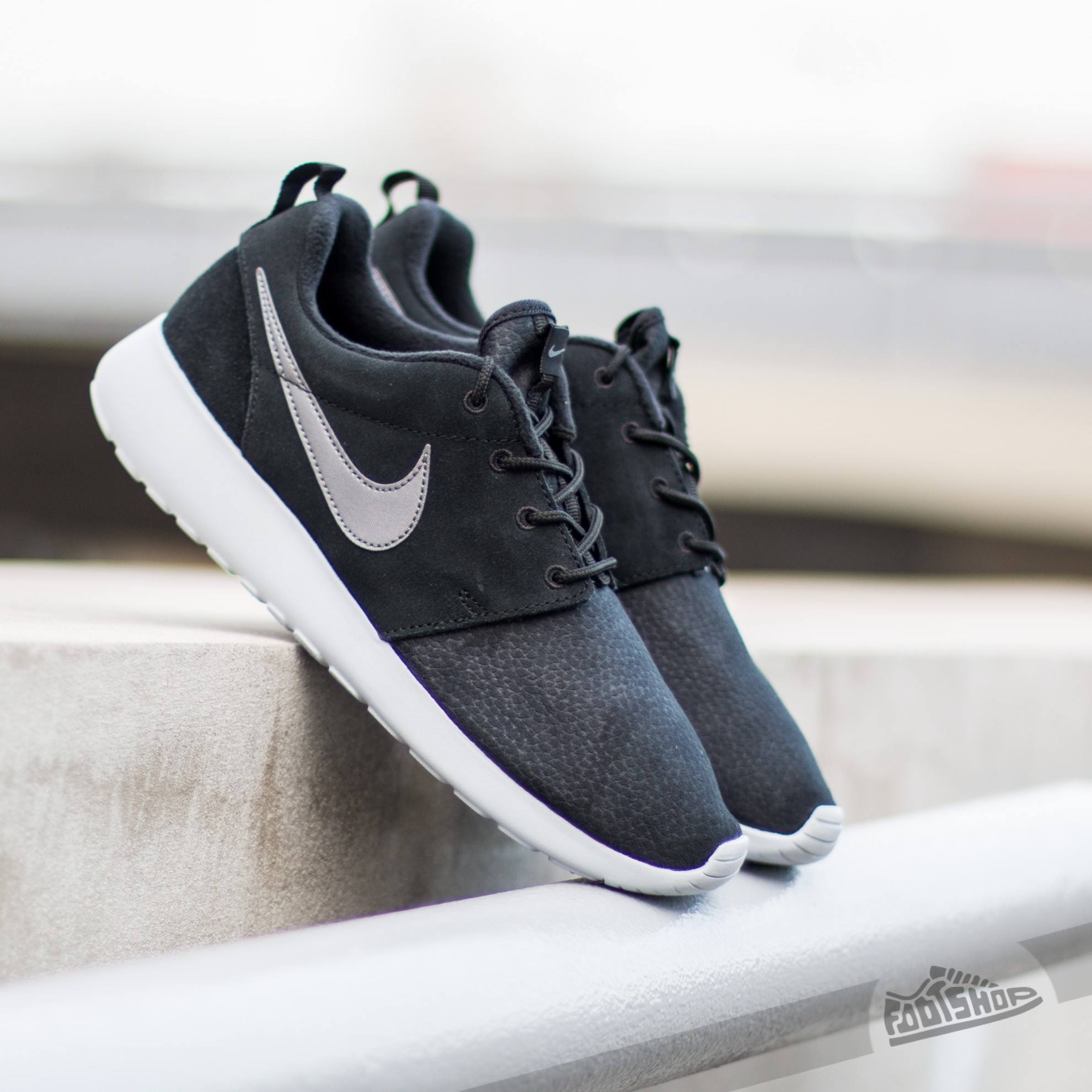 626228752bd1 Nike Roshe One Suede Black  Metallic Dark Grey- Wolf Grey