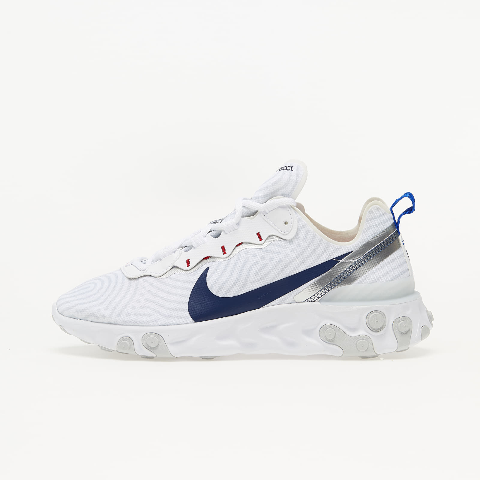 Zapatillas Hombre Nike React Element 55 White/ Midnight Navy-Bright Blue
