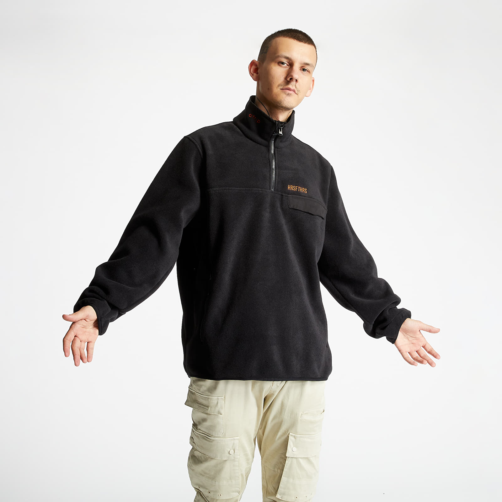 Hanorace și bluze Horsefeathers Madog Atrip Sweatshirt Black