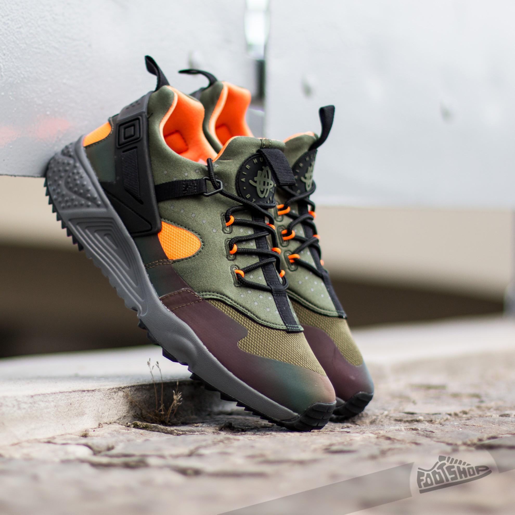 brand new ae481 bc801 Nike Huarache Utility Premium Carbon Green/ Black-Total ...