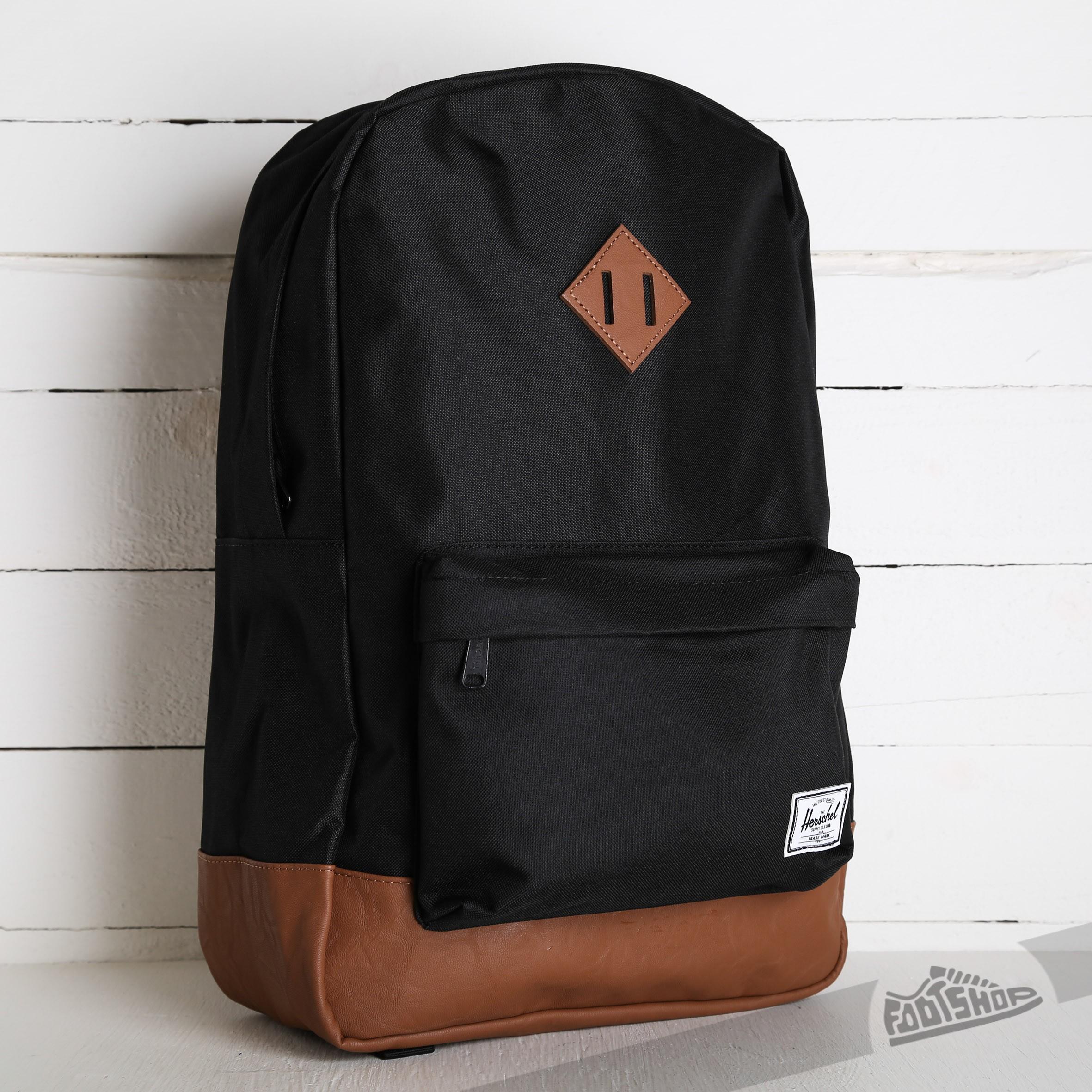 906266d8e6 Herschel Supply Co. Heritage Backpack Black Tan