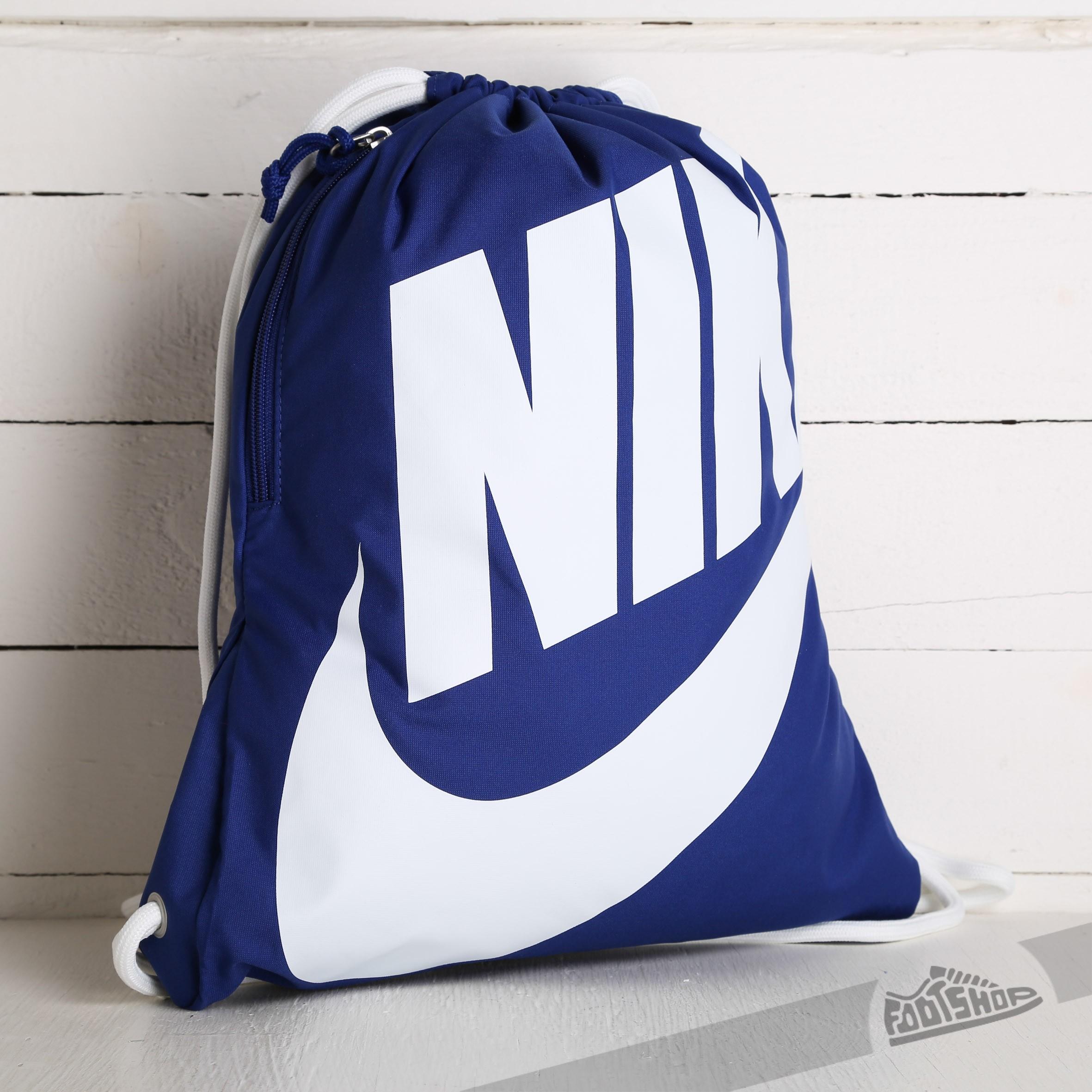 7e0ed020e Nike Heritage Gymsack Blue/ White | Footshop