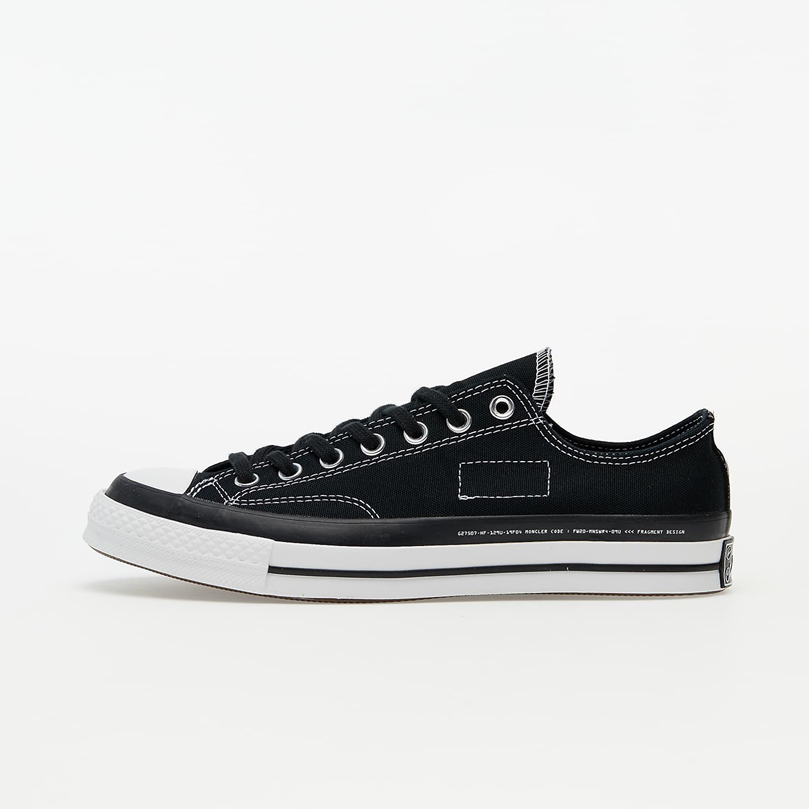 Мъжки кецове и обувки Converse x Fragment Design x Moncler Chuck 70 OX Black/ White/ Black