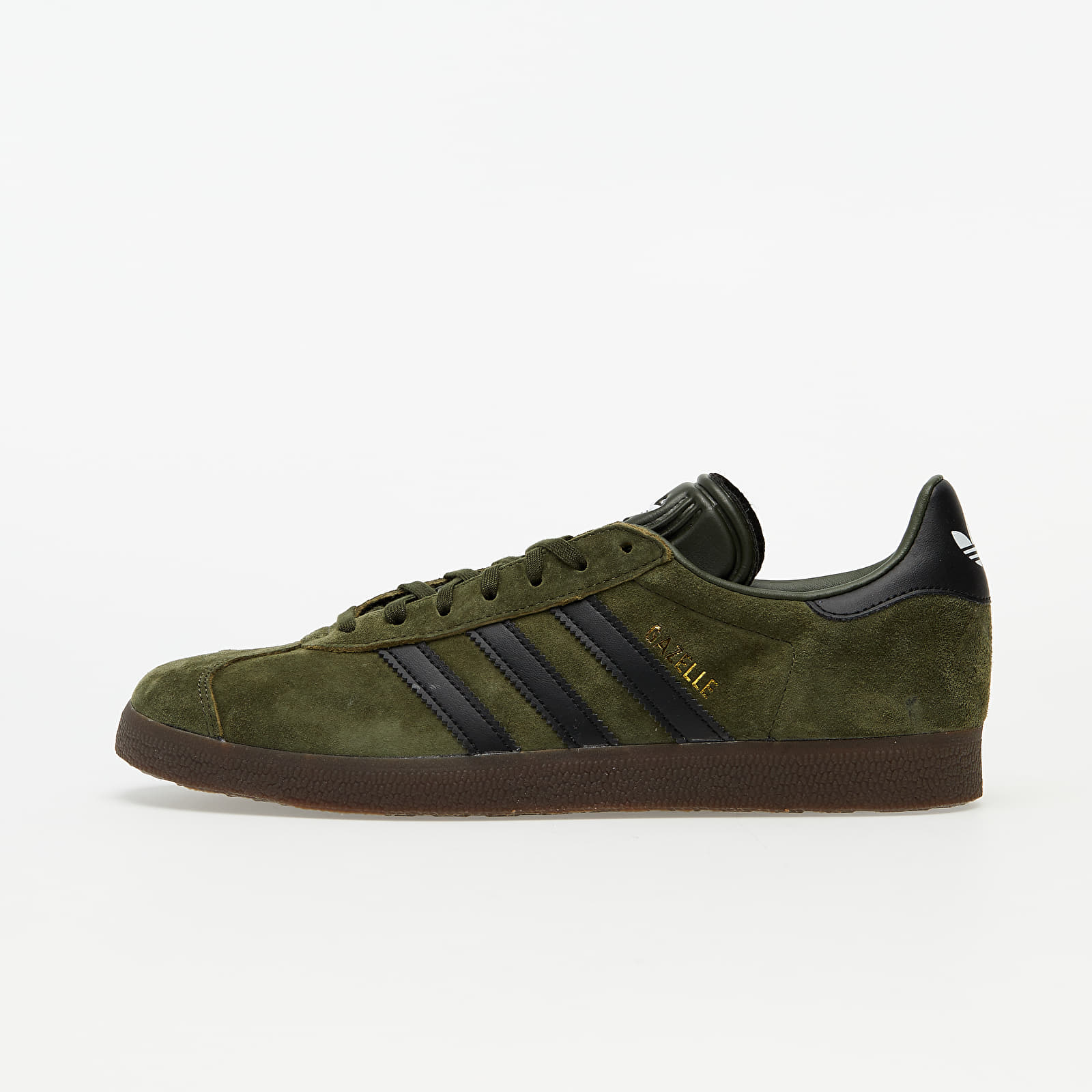 adidas Gazelle Night Cargo/ Core Black/ Gum 5 EUR 43 1/3