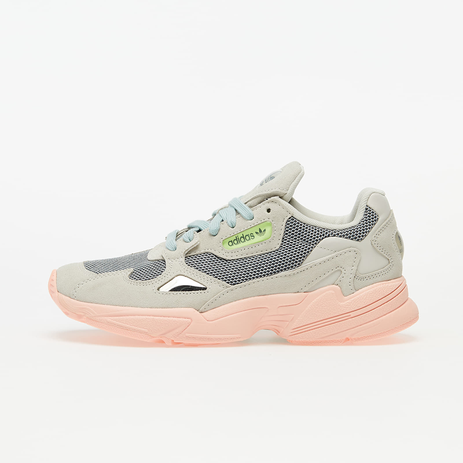 Perseo Insistir Plata  Women's shoes adidas Falcon W Talc/ Haze Coral/ Green Tint | Footshop