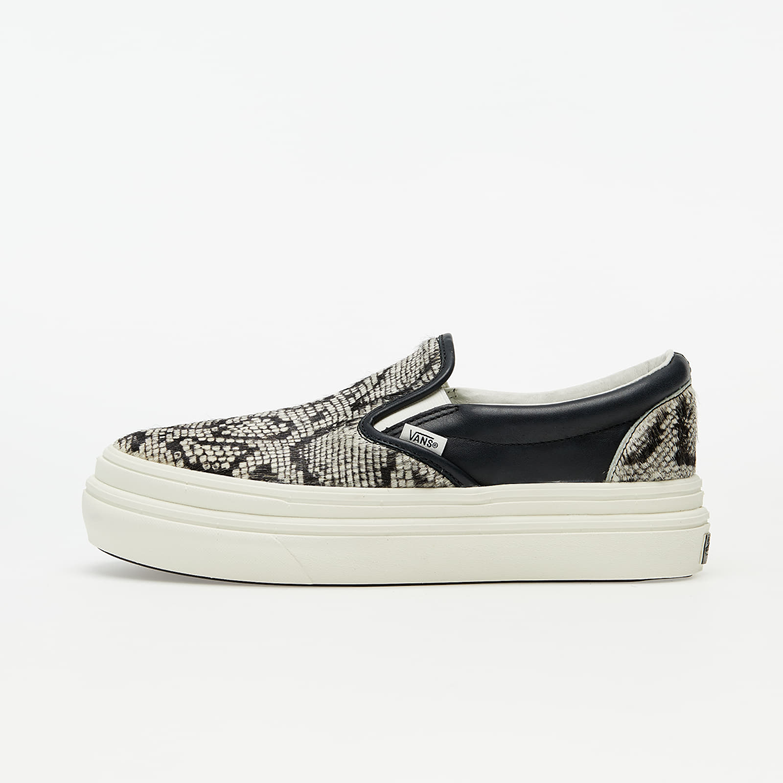 Vans Super ComfyCush Slip-On (Snake/ Pony) Black/ Marshmallow EUR 38