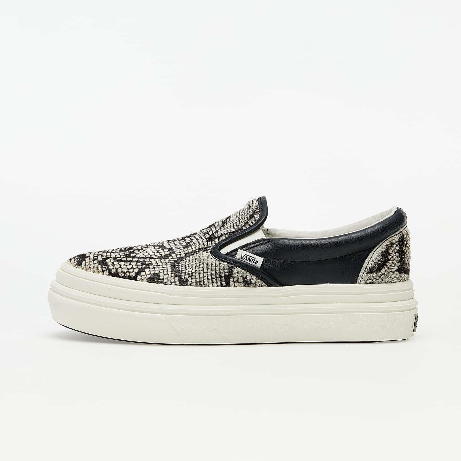 Men's shoes Vans Super ComfyCush Slip-On (Snake/ Pony) Black/ Marshmallow
