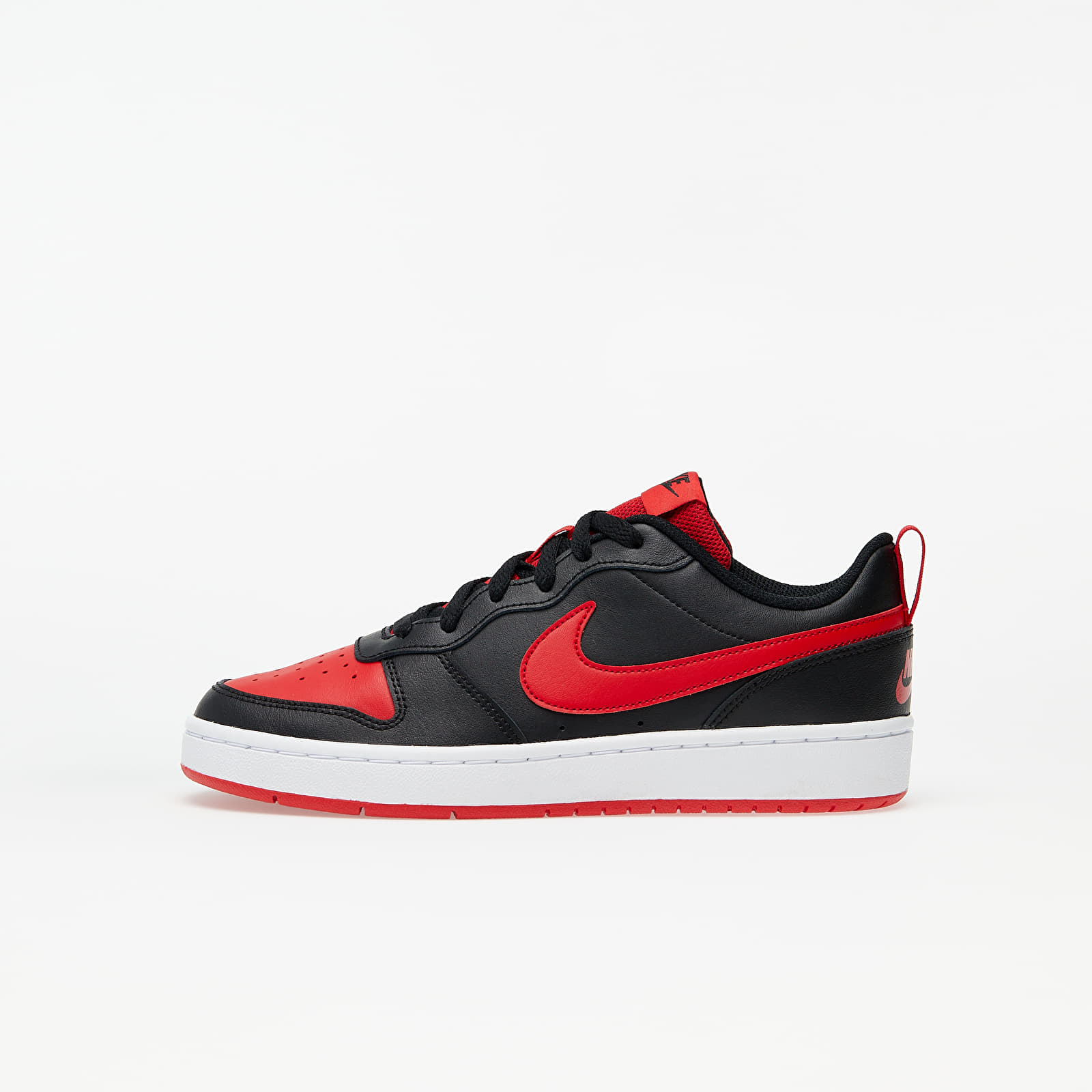 Gyerek Nike Court Borough Low 2 (GS) Black/ University Red-White