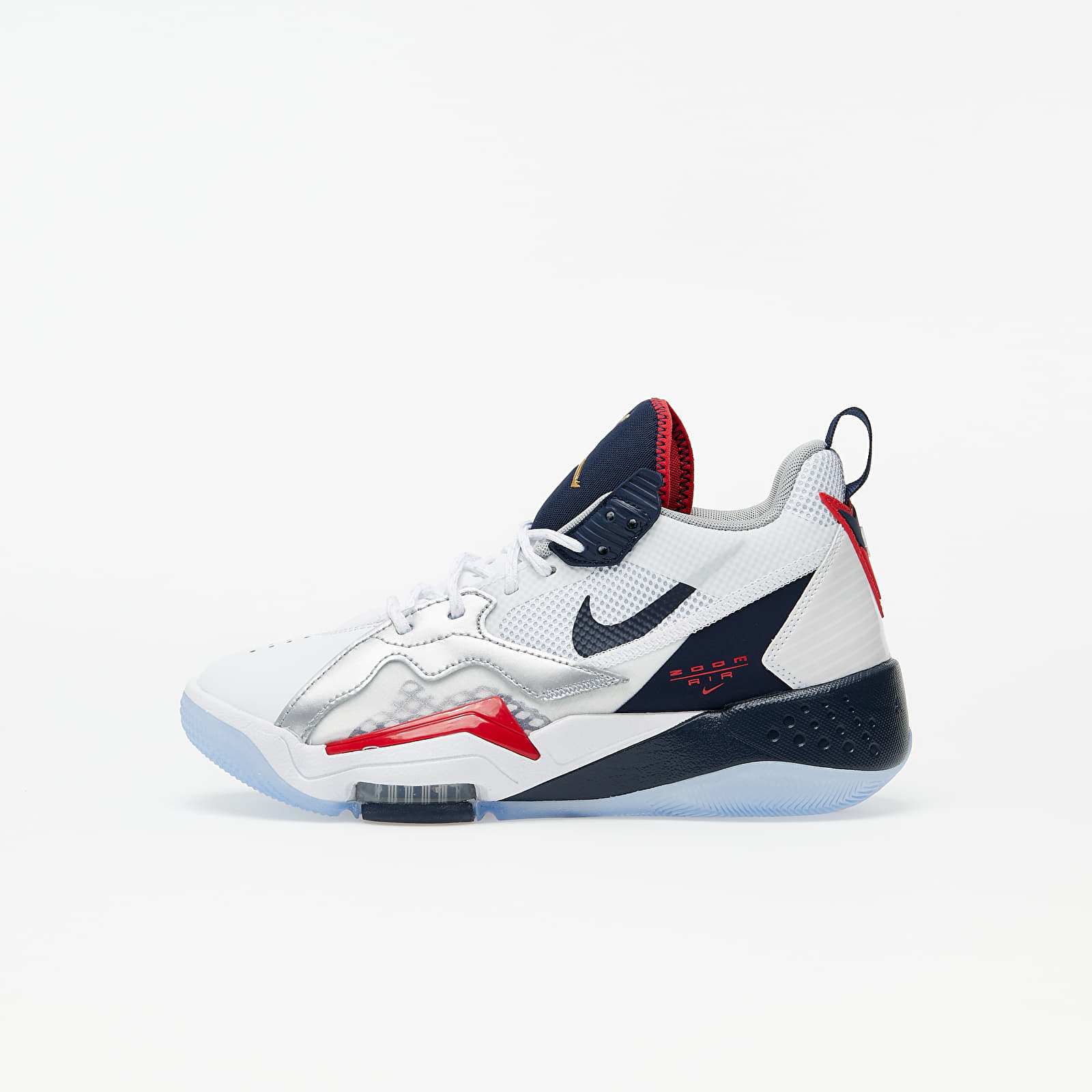 Chaussures et baskets enfants Jordan Zoom '92 (GS) White/ Obsidian-True Red-Metallic Silver