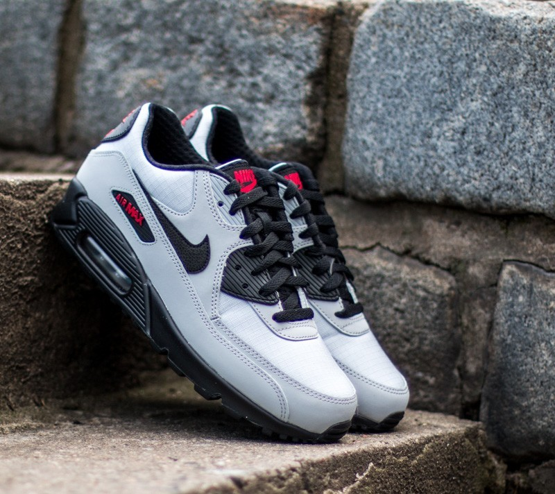 new products 1bf77 8cac5 new zealand cheap grey nike air max size 7.0 e809d b03de  order nike air  max 90 essential wolf grey black black university red eed3c 9b984