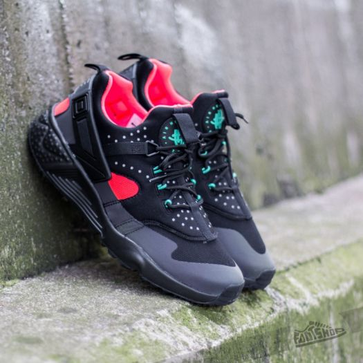 Nike Air Huarache Utility Premium Black Black Bright