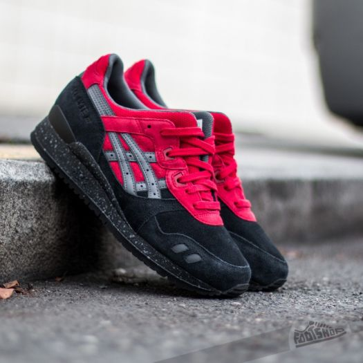 low priced 1e18b a1ec4 Asics Gel Lyte III Black/ Red