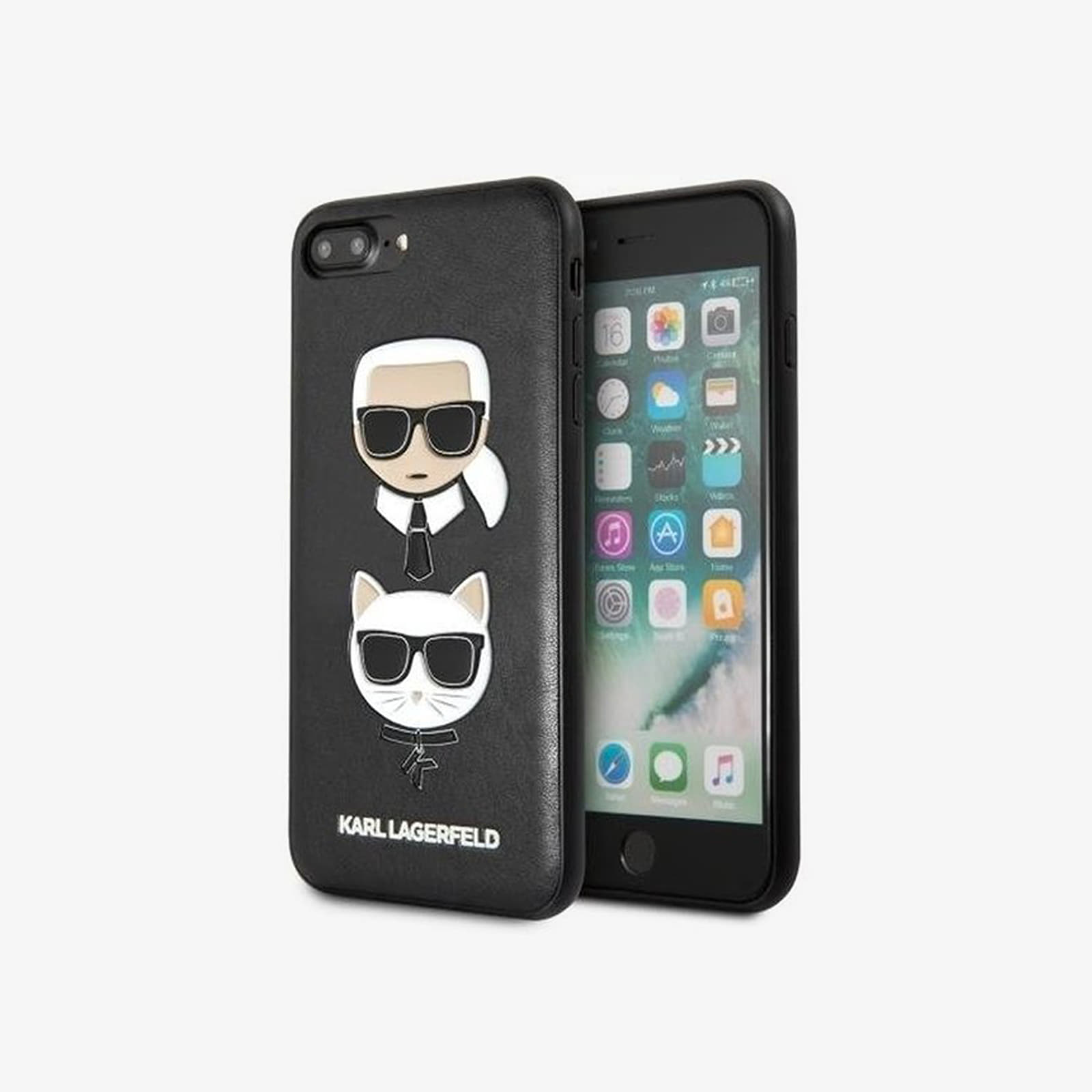 Karl Lagerfeld Karl and Choupette iPhone 7/8 Plus Case Black Universal