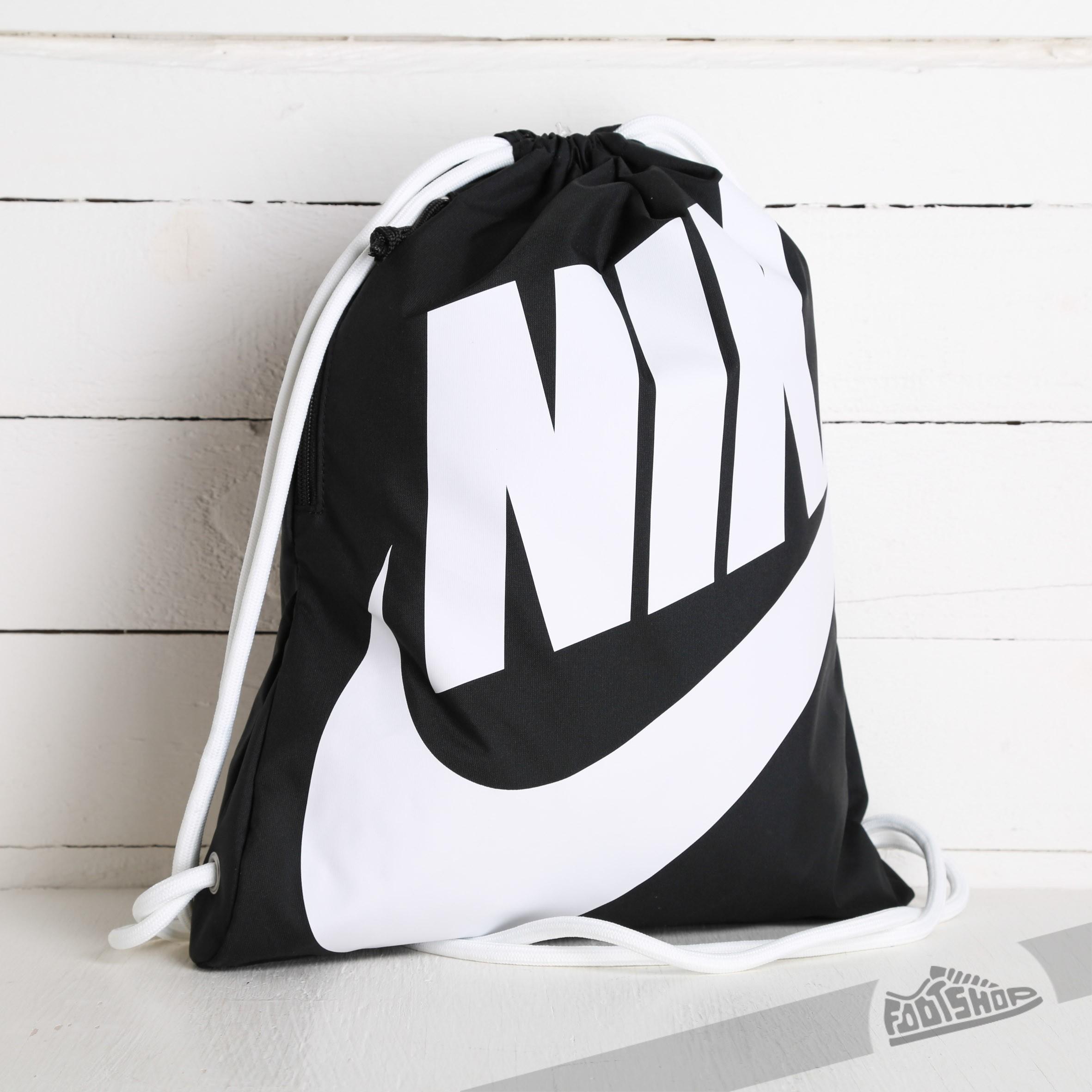 47a3b73d87 Nike Heritage Gymsack Black  White
