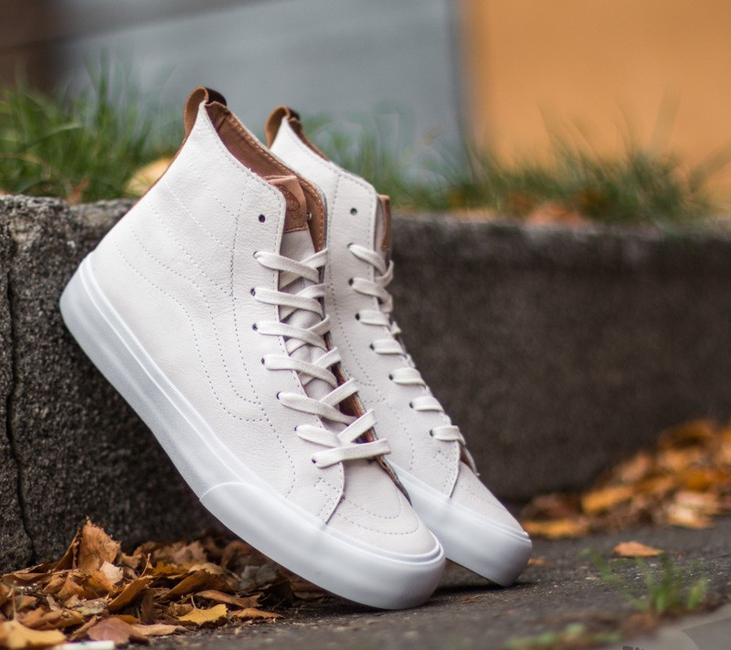 07fce2c250 Vans Sk8-Hi Decon California Premium Leather Winter White